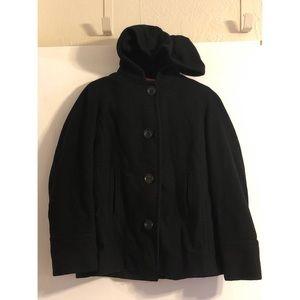 Anne Klein hooded pea coat. Size petite medium.